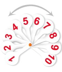 Веер цифр от 1 до 20 прямой и обратный счет ВК15